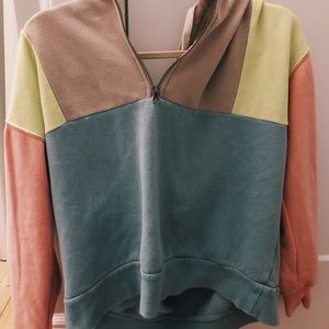 multicolored sweatshirt